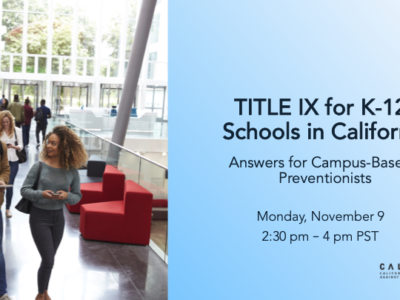 Title IX for K-12 Schools: Answers for Campus-Based Preventionists